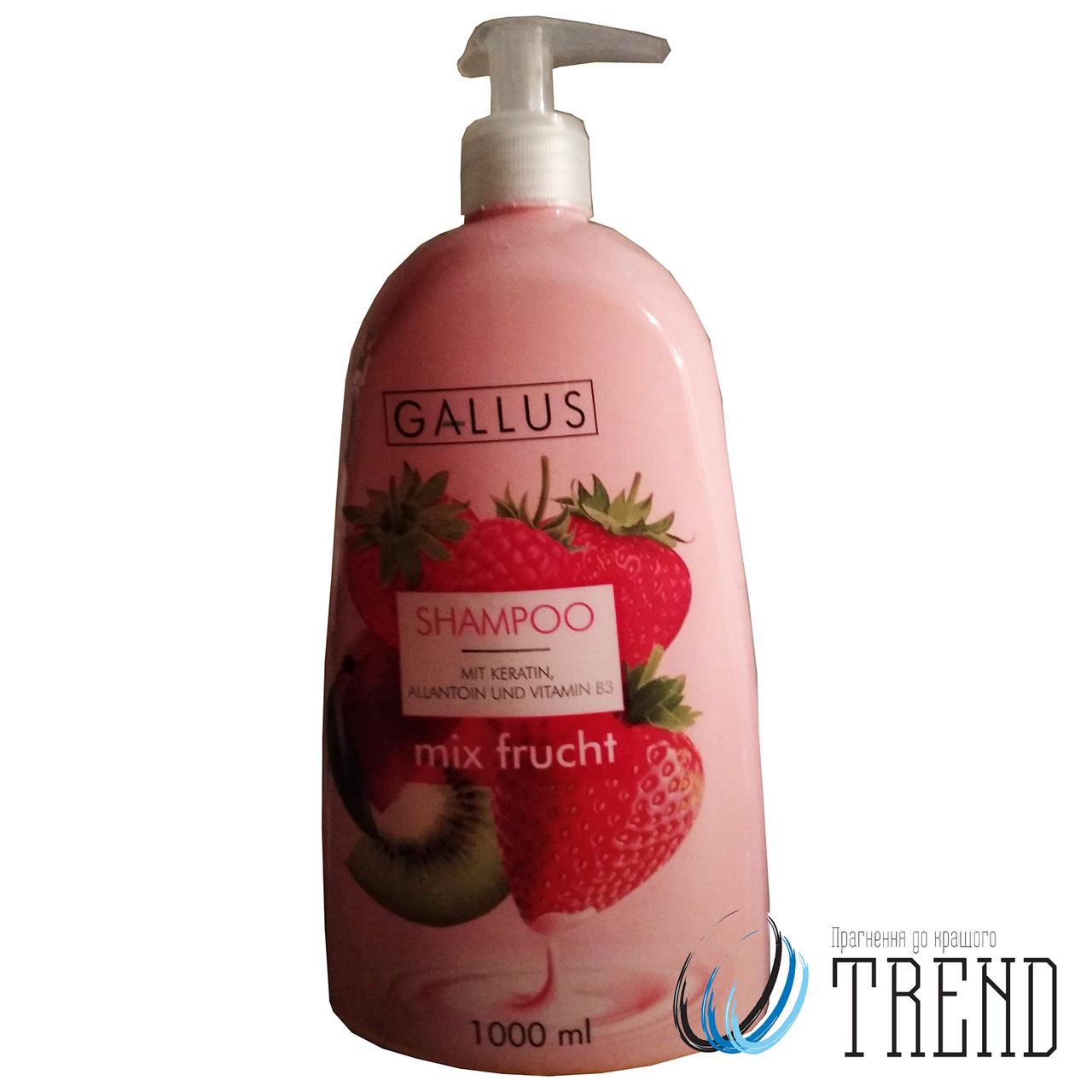 Шампунь для волосся Gallus Фруктовий Мікс 1 л.