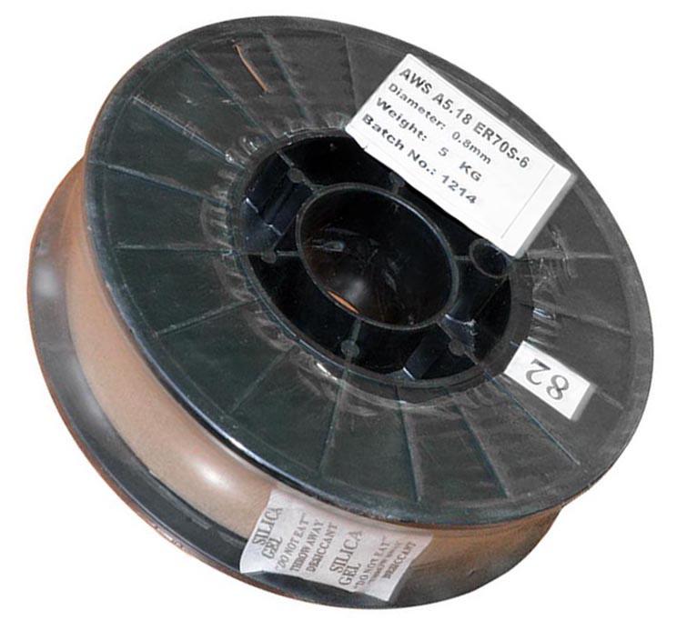 Проволока Китай ER70S-6  5кг 0,8мм (вес 4,150кг)