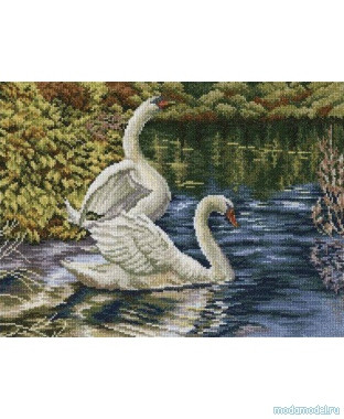 Набор для вышивки крестом RTO M339 «Осеннее озеро»