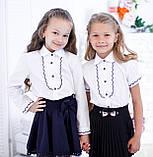 Блузка школьная с рельефным декором, фото 3