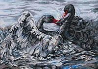 Набор для вышивки крестом RTO M557 «Два черных лебедя»