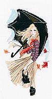 Набор для вышивки крестом RTO M636 «Девушка дождь и зонтик»