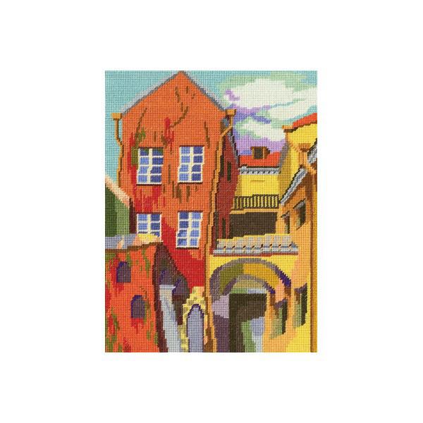 Набор для вышивки крестом RTO M455 «Разноцветный дворик»