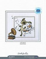 Набор для вышивки крестом RTO M215 «Кошачий вальс»