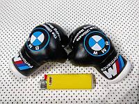 Перчатки боксерские сувенир-брелок в авто BMW ,черные