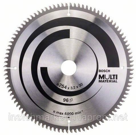Диск пильный Bosch Multi Material 254x30x3,2 mm; Z96 зуб по аллюминию (2 608 640 451)