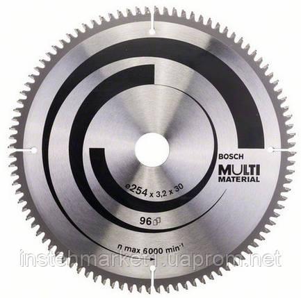 Диск пильный Bosch Multi Material 254x30x3,2 mm; Z96 зуб по аллюминию (2 608 640 451), фото 2