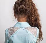 Блузка школьная нарядная 8017 мятный, фото 3