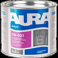 Aura ГФ-021 2,8 кг, серая - Антикоррозионная алкидная грунтовка. Готова к применению.