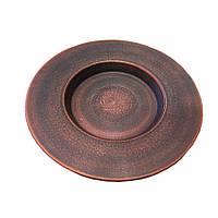 Тарелка для пасты из красной глины 21 см (0656)