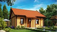 Дом деревянный из профилированного бруса 6х8 м
