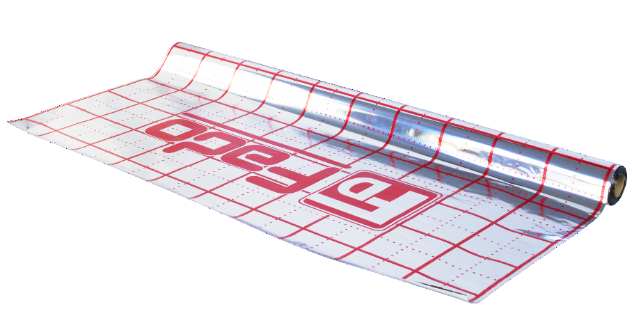 Пленка фольгированная с разметкой  50м (1.05x50mx 60mk)
