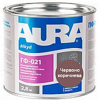 Aura ГФ-021 2,8 кг, красно-коричневая - Универсальная алкидная грунтовка с антикоррозионным эффектом