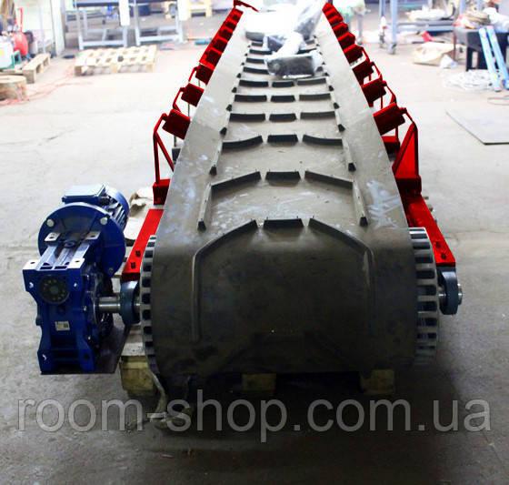 Жолобчасті стрічкові транспортери шириною 650 мм. довжина 8 м.