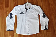 Рубашка белая с латками для Стиляг  Armani 6-7 лет