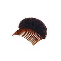 Модный аксессуар для волос, инструмент для прически, гребень с пончиком, для укладки волос, цвет - коричневый