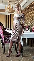 Вечернее платье из бархата