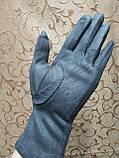 Замш женские перчатки LV с сенсором для работы на телефоне плоншете Anna-мода стильные только оптом, фото 5