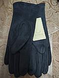 Замш женские перчатки LV с сенсором для работы на телефоне плоншете Anna-мода стильные только оптом, фото 6