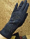 Замш женские перчатки LV с сенсором для работы на телефоне плоншете Anna-мода стильные только оптом, фото 2