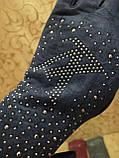 Замш женские перчатки LV с сенсором для работы на телефоне плоншете Anna-мода стильные только оптом, фото 3