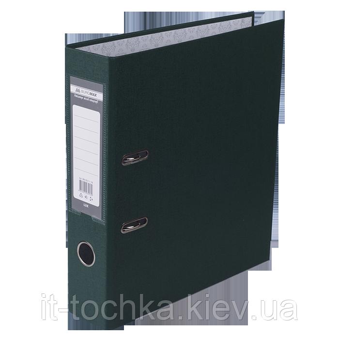 Регистратор односторонний А4 jobmax buromax bm.3011-16c темно-зеленый ширина торца 70мм