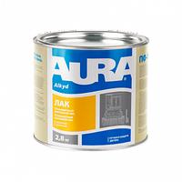 Aura лак паркетный 2,5 кг - Готовый к применению алкидно-уретановый глянцевый паркетный лак. Высокая адгезия