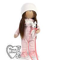 Під замовлення, текстильна Лялька Рожева зайчик, середня