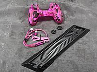 Darius Box V3 - Набор чехол + 2 накладки + наушники + подставка для Playstation 4