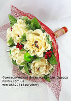 """Ручной букет нежных роз из конфет """"Сливочный вкус""""№7, фото 1"""