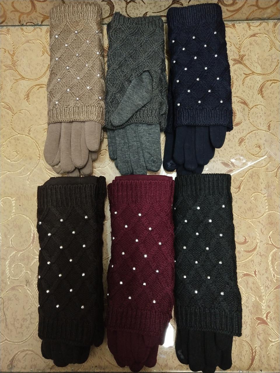 Сенсорны вязание шерсти трикотаж женские перчатки для работы на телефоне плоншете Anna-мода оптом