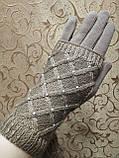 Сенсорны вязание шерсти трикотаж женские перчатки для работы на телефоне плоншете Anna-мода оптом, фото 2