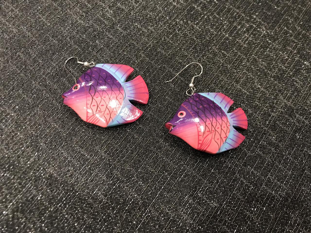 Серьги рыбки