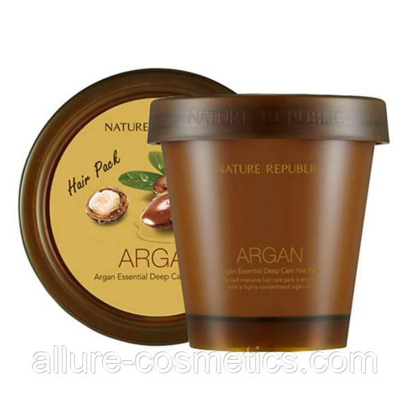 Аргановая маска для волос Nature Republic Argan Essential Deep Care Hair Pack
