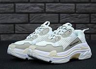 Мужские кроссовки Balenciaga Triple S White (топ качество)