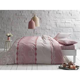 Постельное белье Tac ранфорс - Sally pembe V01 розовый евро