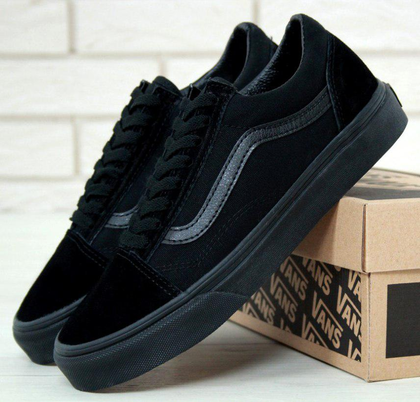 Кеды Vans Old Skool Black (унисекс), vans old school, ванс олд скул