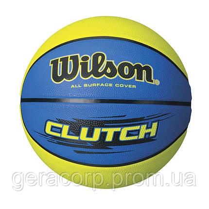 Мяч баскетбольный Wilson Clutch Yellow/Blue, фото 2