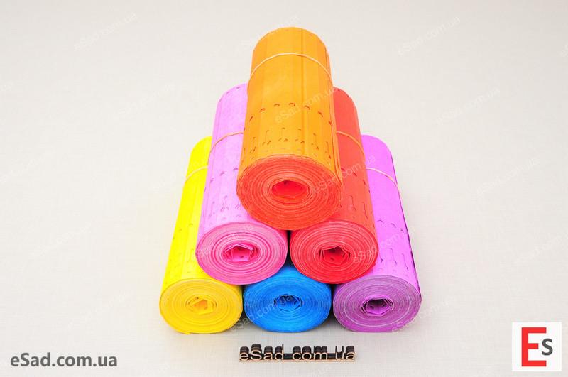Етикетки TYVEK кольорові 1,27*22см, 1000шт