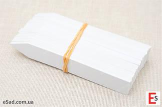 Етикетки-кілочки для рослин PET-R білі 1,6 х 10 см, 500 шт, фото 3