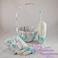 Набор свадебных аксессуаров в мятном цвете №5