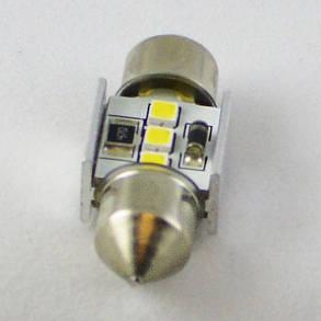 Светодиодная автомобильная лампа с встроеной обманкой бортового компьютера SV8,5(C5W) 31mm-samsung-3W, фото 2