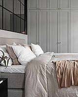 Шкаф серый матовый фасады мдф фрезерованные рамка. blum furniture
