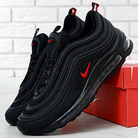 """Мужские кроссовки в стиле Nike Air Max 97 """"Black/Red"""" Рефлективные"""