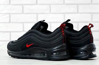 "Мужские кроссовки в стиле Nike Air Max 97 ""Black/Red"" Рефлективные, фото 2"