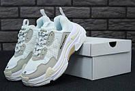 Жіночі кросівки Balenciaga Triple S White (топ якість), фото 1