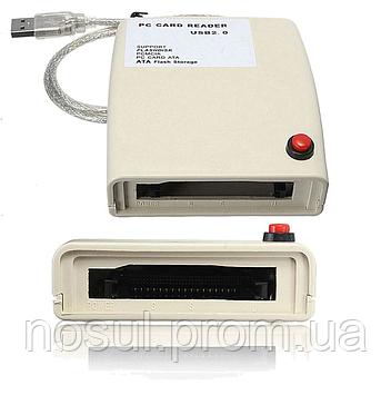 Картридер PCMCIA ― USB 2.0 (#2) ATA card SANDISK HITACHI SILICONTECH SHARP PANASONIC FUJITSU SMART WHITE ELECT