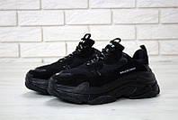 Женские кроссовки Balenciaga Triple S Black (топ качество) 36