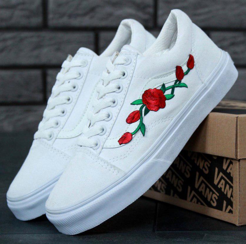 Кеды Vans Old Skool Roses, (унисекс), vans old school, ванс олд скул