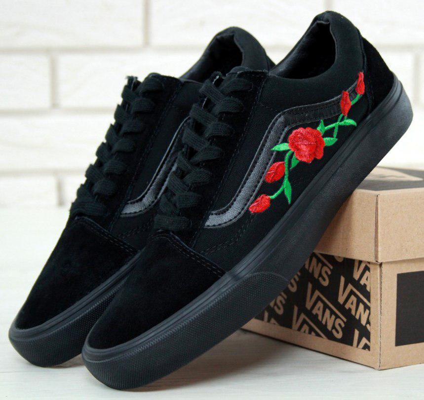 Кеды Vans Old Skool Roses, vans old school, ванс олд скул